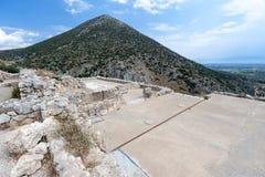 迈锡尼破坏希腊 库存图片