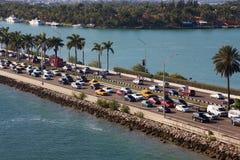 迈阿密交通堵塞 免版税库存照片