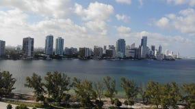 迈阿密佛罗里达天空视图 免版税库存照片
