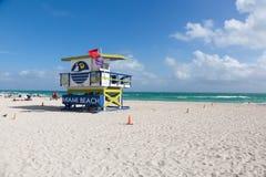 迈阿密南海滩,佛罗里达,美国 免版税库存图片