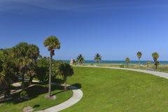 迈阿密南海滩热带天堂 免版税图库摄影