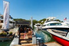 迈阿密国际小船展示 库存图片
