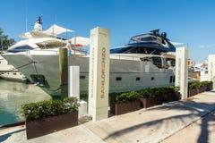 迈阿密国际小船展示 库存照片
