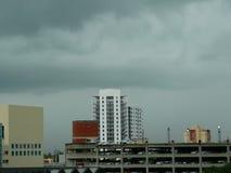 迈阿密地平线和云彩 库存图片