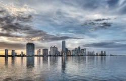迈阿密地平线HDR  免版税图库摄影
