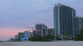 迈阿密夏天日落海滩海湾生活全景4k美国 影视素材