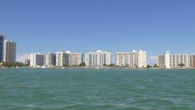 迈阿密夏日游船乘驾4k佛罗里达美国 影视素材