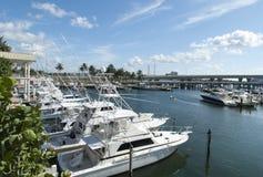 迈阿密小游艇船坞游艇 免版税库存图片