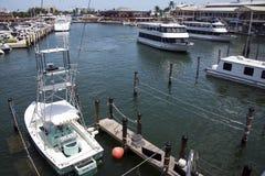 迈阿密小游艇船坞 免版税库存照片