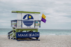 迈阿密救生员小屋 免版税库存照片