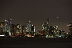 迈阿密晚上 免版税库存照片