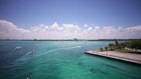 迈阿密海湾通行证夏日haulover游艇公园全景4k时间间隔佛罗里达美国 影视素材
