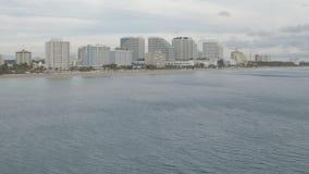 迈阿密海滩海岸线 股票录像
