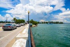 迈阿密海滩都市风景 免版税图库摄影