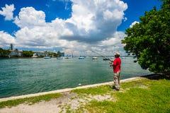 迈阿密海滩都市风景 库存照片
