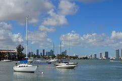 迈阿密海滩风景水视图 图库摄影