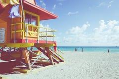 迈阿密海滩,佛罗里达,美国- 2018年2月18日:救生员塔我 库存照片