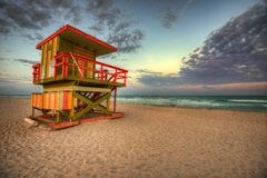 迈阿密海滩,美国 免版税图库摄影