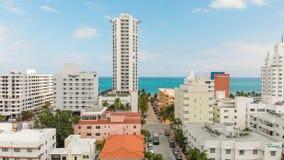 迈阿密海滩, FL - 2018年4月11日:迈阿密海滩空中地平线  免版税库存照片