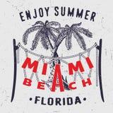 迈阿密海滩享受夏天佛罗里达 图库摄影