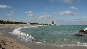 迈阿密海滩佛罗里达岸 股票视频