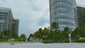 迈阿密海滩入口多雨天空图4k佛罗里达美国 股票录像