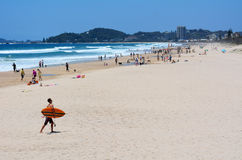 迈阿密海滩在英属黄金海岸昆士兰澳大利亚 库存照片