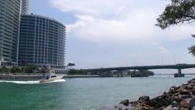迈阿密海滩夏日海洋海湾通行证交通4k时间间隔佛罗里达美国 影视素材