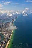 迈阿密海滩天线  免版税库存照片