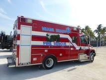 迈阿密海滩火抢救 免版税图库摄影