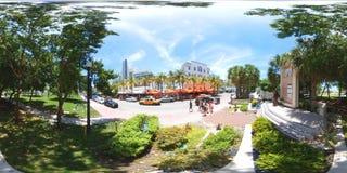迈阿密海滩360球形图像 库存图片