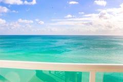 从迈阿密海滩的大西洋 库存图片