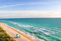 从迈阿密海滩的大西洋 库存照片