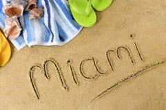 迈阿密海滩背景 库存图片