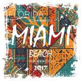 迈阿密海滩背景 库存例证