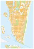 迈阿密海滩街道地图,佛罗里达 库存例证