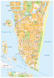 迈阿密海滩街道地图,佛罗里达 向量例证