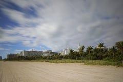 迈阿密海滩辗压云彩 免版税库存图片