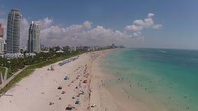 迈阿密海滩,佛罗里达鸟瞰图 股票录像