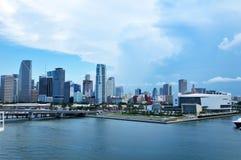 迈阿密海滩在佛罗里达迈阿密,佛罗里达,沿海,海岸,海岛,休闲,公寓,热带,旅行,江边,目的地,如此 免版税图库摄影