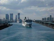 迈阿密港  库存图片