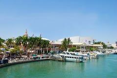 迈阿密码头江边 免版税图库摄影