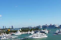 迈阿密端口 免版税图库摄影