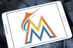 迈阿密细索棒球队商标 库存照片