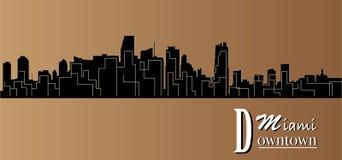 迈阿密街市剪影-传染媒介城市-可升级的-生动的颜色-大厦-海报 向量例证