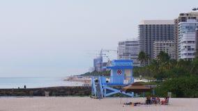 迈阿密镇定晚上海滩海湾生活建筑图4k美国 影视素材