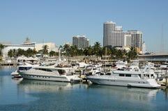 迈阿密马达游艇 免版税库存照片
