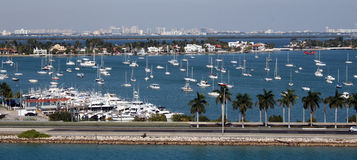 迈阿密,佛罗里达小游艇船坞 免版税库存图片