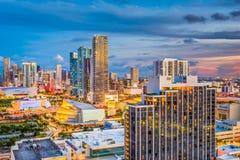 迈阿密,佛罗里达,美国地平线 免版税库存图片