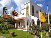 迈阿密,佛罗里达, 2017年11月:Wat迈阿密Therava Buddharangsi  库存图片